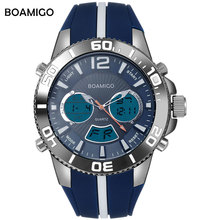 Sports-Watches BOAMIGO Digital Military Waterproof Fashion Rubber 30M Men Brand