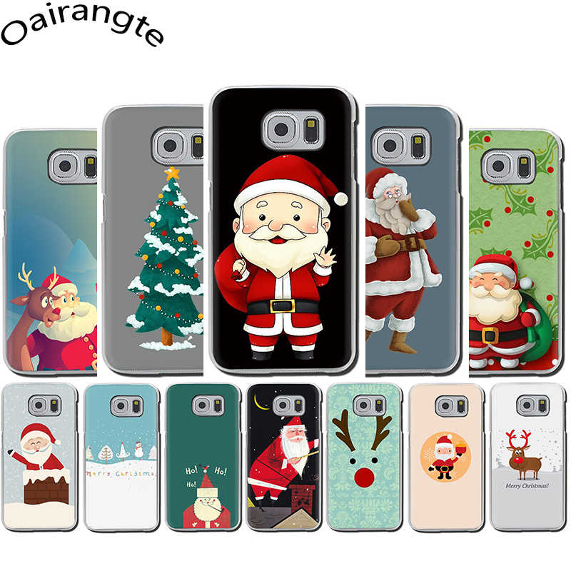 Christmas day Hard phone case for Samsung Galaxy S6 S7 Edge S8 S9 S10 Plus S10e Note 8 9 M10 M20 M30