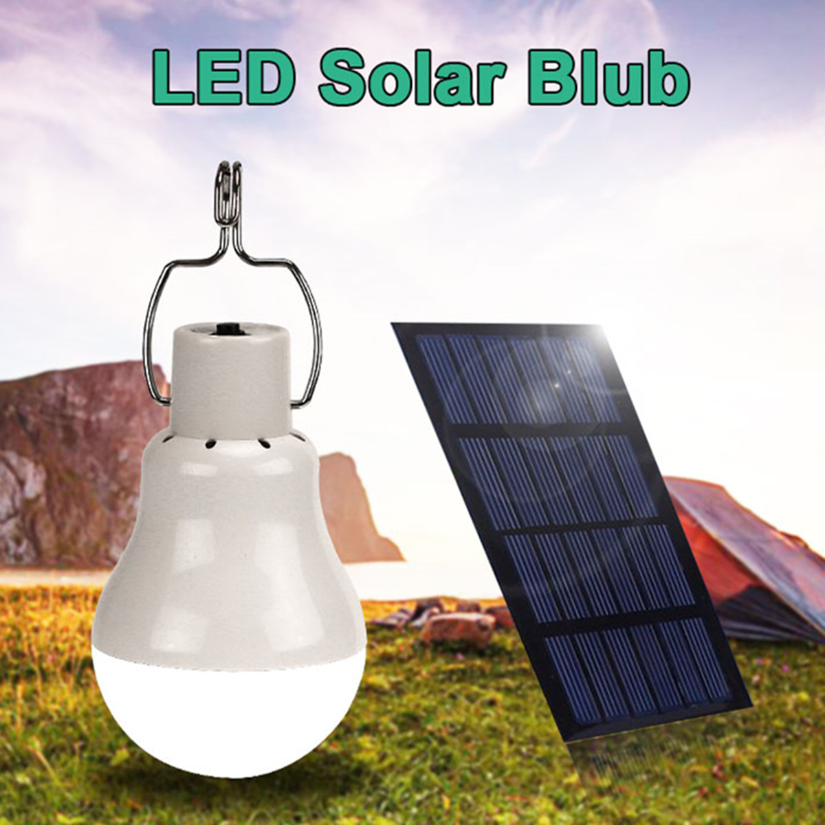 15W/20W Portable Outdoor Camping Solar Panel  LED Bulb Light Energy Clean Saving Lamp Long Life Expectancy Rechargeable