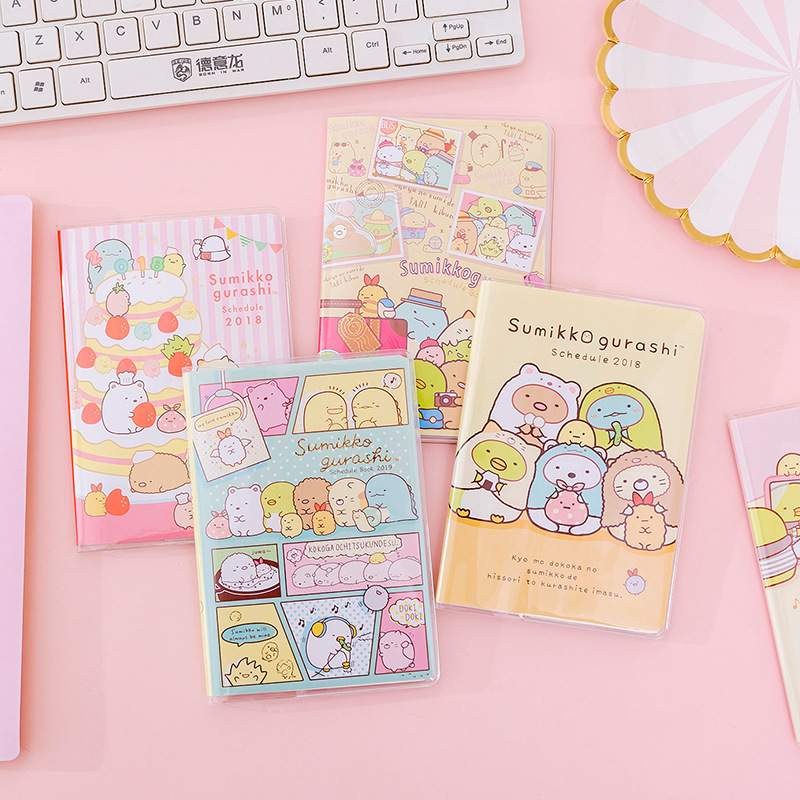 Kawaii Plastic Waterproof Cover Sumikko Gurashi Girl Heart Notebook Diary Book Exercise Bullet Journal Notepad Gift Stationery