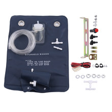 12V Universal Metal Plastic Windshield Washer Pump Bag Kit With Jet Button Switch and long hose AWP 23 for Classic Cars