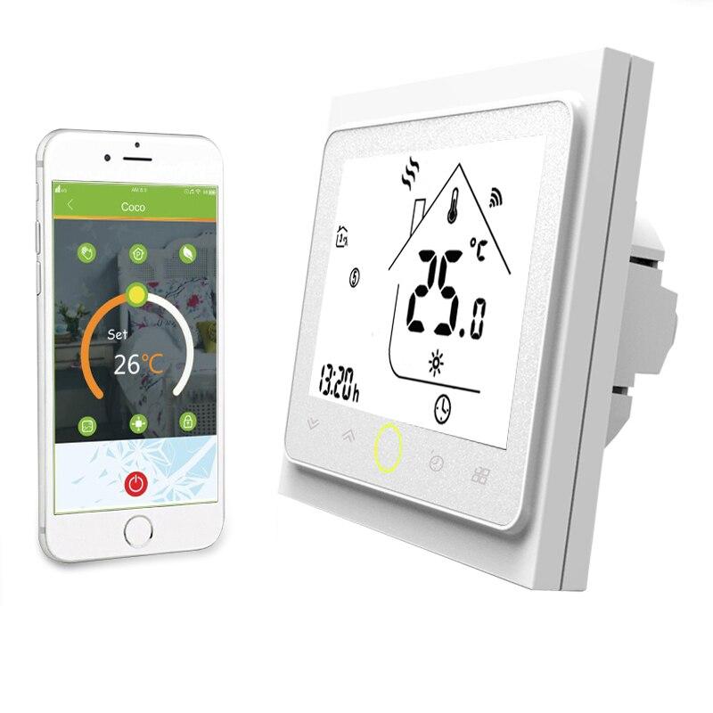 Fonction WiFi Thermostat intelligent température eau/chauffage par le sol électrique eau/gaz chaudière fonctionne contrôleur avec Alexa Google Home