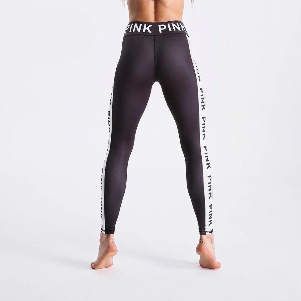 Fashion Women Black Leggings 3D Letters Printed Pants Outdoor Sports Fitness Leggings Plus Size Sports Leggings Jeggings O5A044 3