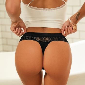 Sexy Lace Panties Women Ultra Thin Hollow Briefs Underwear Womens Underpants Soft Perspective Lingerie Lady 4 Solid Colors M/L