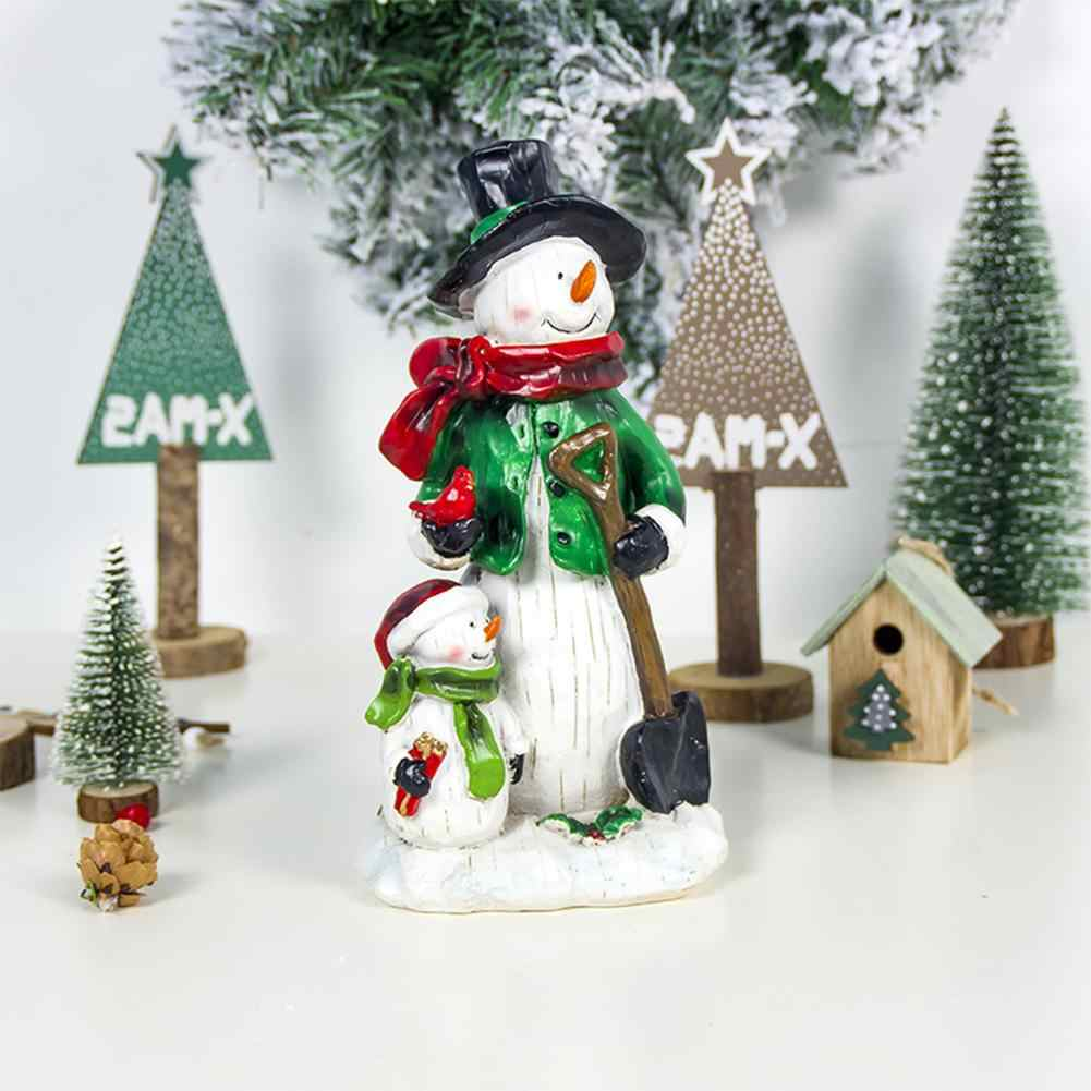New Home Ornament 2020.Christmas Painted Resin Crafts Snowman Santa Crafts Ornaments 2020 New Year Children Christmas Gift Home Decoration