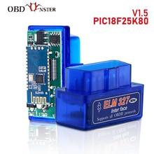 ELM327 Bluetooth V1.5 PIC18F25K80 OBD2 סורק ELM 327 Bluetooth אנדרואיד/PC מומנט רכב קוד סורק OBD2 Bluetooth מתאם 1.5