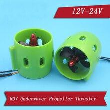Rov 12 24V Borstelloze Motor Onderwater Thruster Met 30A/50A Esc 60Mm Propeller Cw Ccw Voortstuwing voor Rc Visaas Boot Onderdelen