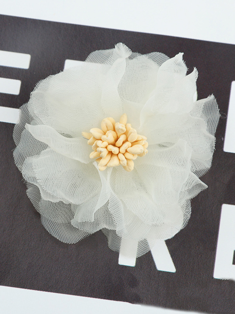 Craft Millin Ivory//Mint Motif Sequin /& Beaded Small Flower w Leaves Applique