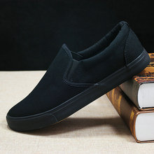 Canvas shoes men's shoes all black casual
