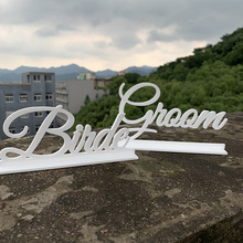 Wedding Indicating Ornaments Groom And Bride Wooden Sign Supplies Decoration Gifts