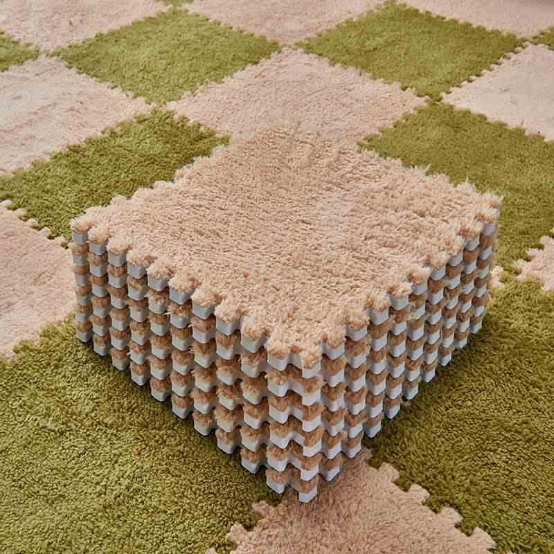 홈 오피스 사용 연동 카펫 타일 퍼즐 매트 카펫 거실 침실 Playmat 30.5*30.5cm 1pc 지역 러그