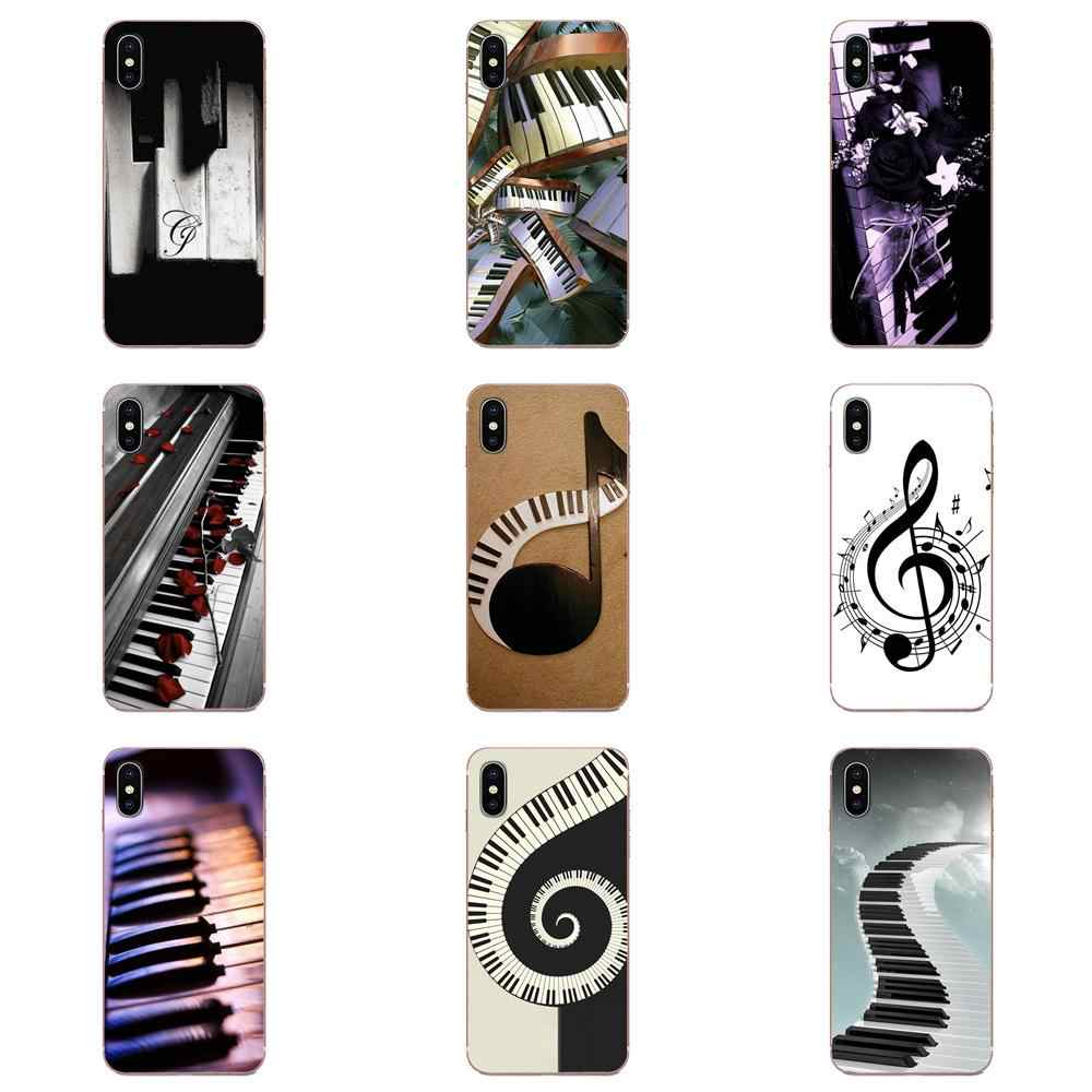 Zwart Wit Muziek Piano Notes Voor Huawei Honor Mate 7 7A 8 9 10 20 V8 V9 V10 V30 p40 G Lite Play Mini Pro P Smart