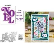 Ensemble de mots Noel Joyeux, série de mots, tampons transparents, matrices de découpe assorties pour bricolage, cartes de Scrapbooking, artisanat, nouveau
