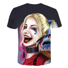 Suicide Squads 3d Printed T Shirt Men Joker Face Casual O-neck Male Tshirt Clown Short Sleeve Cosplay Funny T Shirts Pokemon
