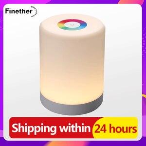 Image 1 - Led タッチコントロール夜の光誘導調光ランプスマートベッドサイドランプ調光対応の rgb 色変更充電式スマート