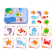 kids Puzzle Baby Cartoon Animal Intelligence Paper Matching Puzzle Toy Children Educational Brain Teaser Learning Jigsaw Puzzle children geometry intelligence matching toy