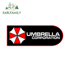 EARLFAMILY 13cm x 6.5cm Car Styling Umbrella Corporation Red Vinyl Gamer Sticker JDM Waterproof Window Accessories