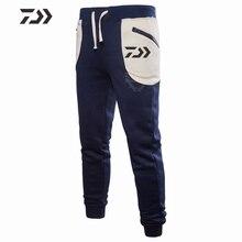 Daiwa осенне-зимние штаны для рыбалки, уличные брюки, мужские спортивные штаны из полиэстера, одежда для рыбалки, лоскутные карманы, походные брюки