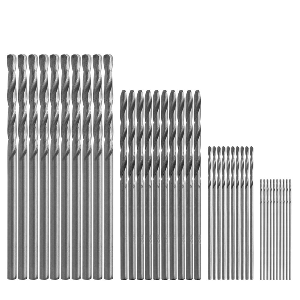 40 Pcs Mini Drill HSS Bit 0.5mm-2.0mm Straight Shank PCB Twist Drill Bits Set US