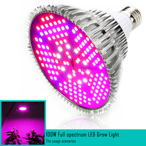Image 5 - (10pcs/Lot) E27 100W Full Spectrum LED Grow Light For Indoor Garden Greenhouse Plant Growing & Flowering SMD Grow Lamp