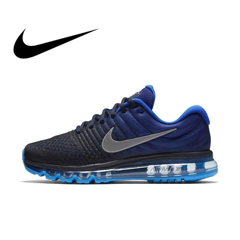 Nike AIR MAX hommes chaussures de course Sport baskets de plein AIR chaussures de Designer athlétique 2017 nouveau Jogging respirant à lacets 849559-010