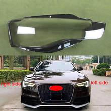 Couvercle de phare abat jour couverture transparente phares coquille abat jour en verre de lentille pour Audi A5 2012 2013 2014 2015 2016