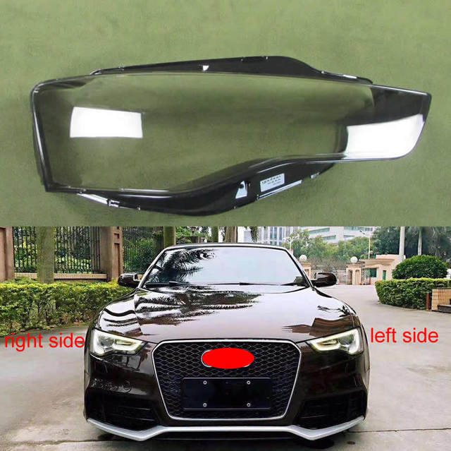 Headlamp Cover Lampshade Transparent Cover Headlights Shell Lampshade Lens Glass For Audi A5 2012 2013 2014 2015 2016