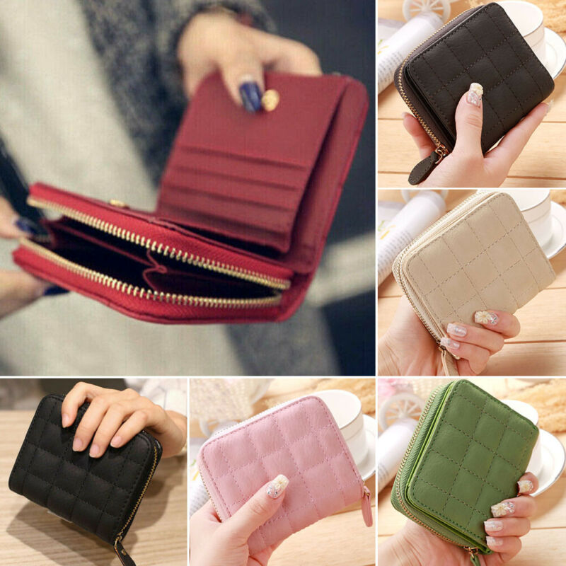 Women Ladies Wallet Leather Zip Coin Purse Clutch Handbag Small Mini Card Cash Holder  /BY