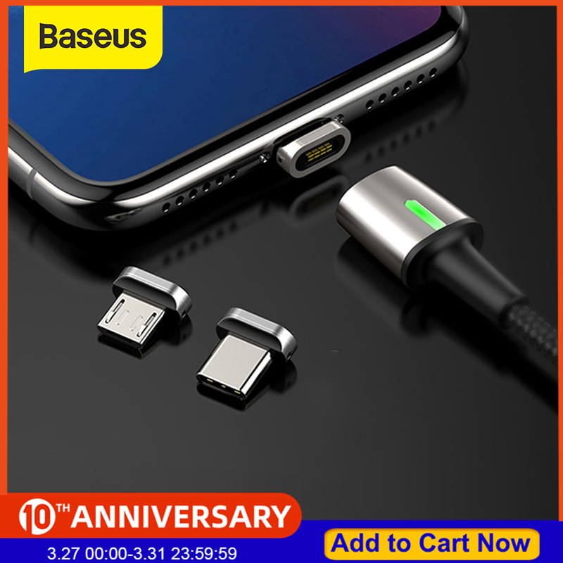 Baseus Magnetic Charger USB Cable Adapter For Samsung Fast Charging Micro USB Type C Cable Magnet Charger Adapter For Huawei