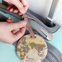 купить Fashion Map Luggage Tags Women Travel Accessories Suitcase ID Address Holder Baggage Boarding Tag Travel Bag Portable Label по цене 58.08 рублей