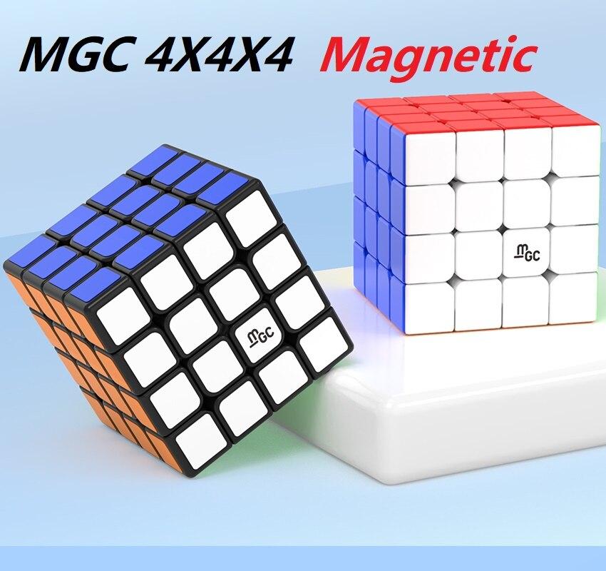 Newes YJ MGC 4x4 Magnetic Speed Cube YJ MGC 4 M 4M mgc4 M 4x4x4 Puzzle Yongjun Magico Cubo Educational Toys for Children