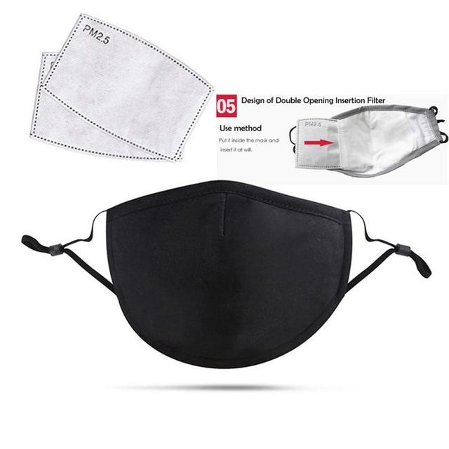 Cotton PM2.5 Mouth Mask Anti Dust Mask Activated Carbon Filter Windproof Mouth-muffle Bacteria Proof Flu Face Masks Care 3