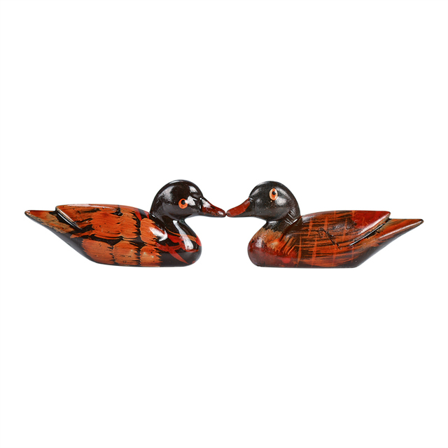 Fashion Vintage Resin Pair Of Mandarin Ducks Chopstick Holder For Home Decoration Feng Shui Craft Display Ornament Holiday Gift 5