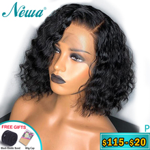 Newa Hair Full Lace Human Hair Wigs Pre Plucked 150 Water Wave Full Lace Wigs With