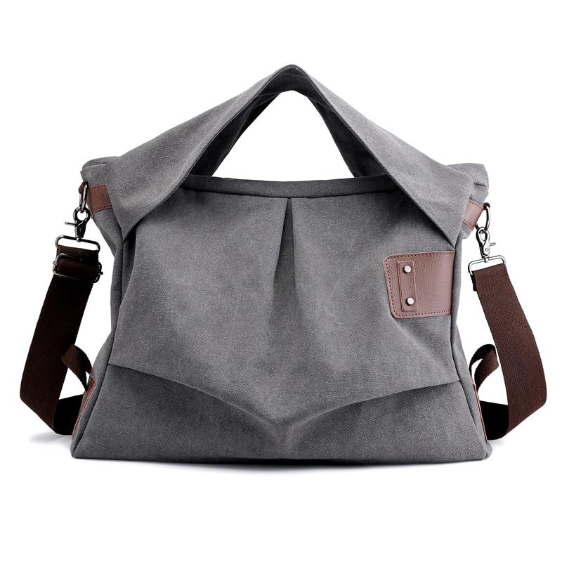 JIULIN Brand Women Handbags Ladies High Quality Casual Female Tote Messenger Big Bag Shoulder Bag Large Canvas Bolsos in Shoulder Bags from Luggage Bags