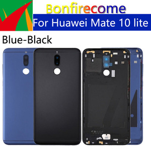 Image 2 - Battery Back Cover For Huawei Mate 10 lite Back Battery Door Rear Housing Cover Case For Huawei Nova 2i Chassis Shell