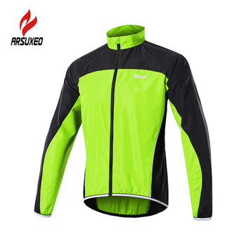 ARSUXEO Reflective Men's Cycling Jacket Windproof Waterproof Road Mountain Bike Clothing MTB Windbreaker Bicycle Wind Jacket ultra light hooded bicycle jacket bike windproof coat road mtb aero cycling wind coat men clothing quick dry jersey thin jackets