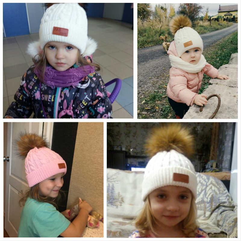 MOLIXINYU 2/Ps ใหม่แฟชั่นเด็ก Beanies เด็ก Pompon หมวกสาวหมวกเด็กฤดูหนาวเด็กหมวกถักหมวกเด็ก 1-5 ปีหมวก