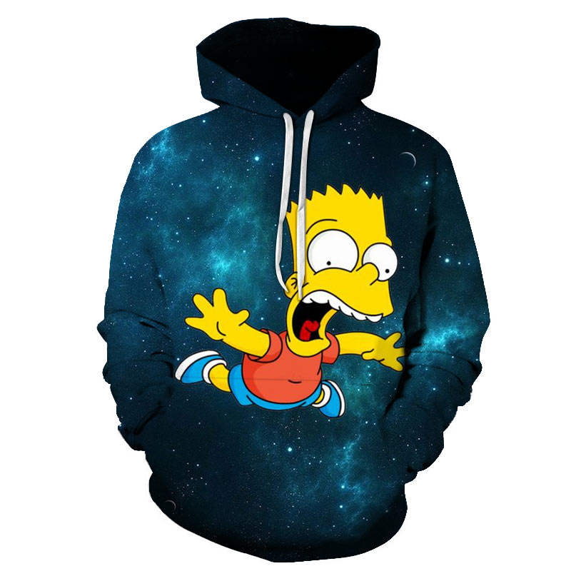 2019 New 3D Printing Hoodies Simpson Men / Women Autumn And Winter Sweatshirt Hoodies