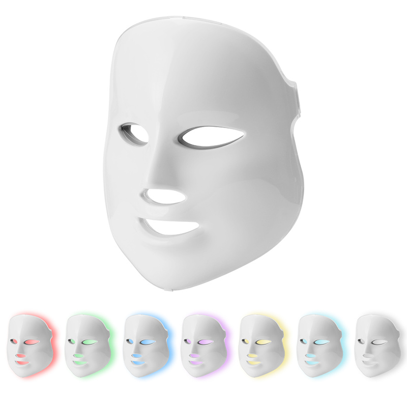 7 Colors Led Facial Mask Led Korean Photon Therapy Face Mask Machine Light Therapy Acne Mask Neck Beauty Led Mask