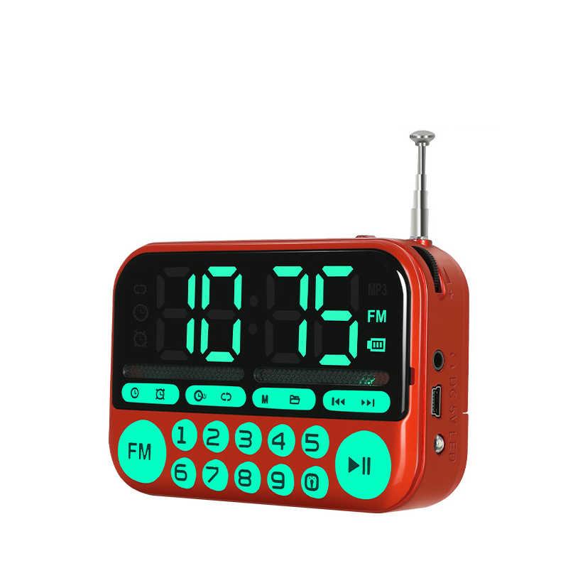 C-866 ポータブルミニ fm ラジオスピーカー音楽プレーヤー tf カード usb pc ipod 電話 led ディスプレイダンス MP3 ハイファイアラーム時計