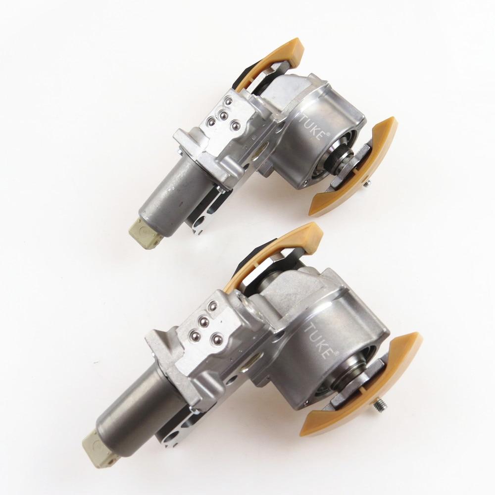 Pair For VW Passat AUDI A4 A6 2.7T 2.8 V6 Camshaft Timing Chain /& Tensioner Kit