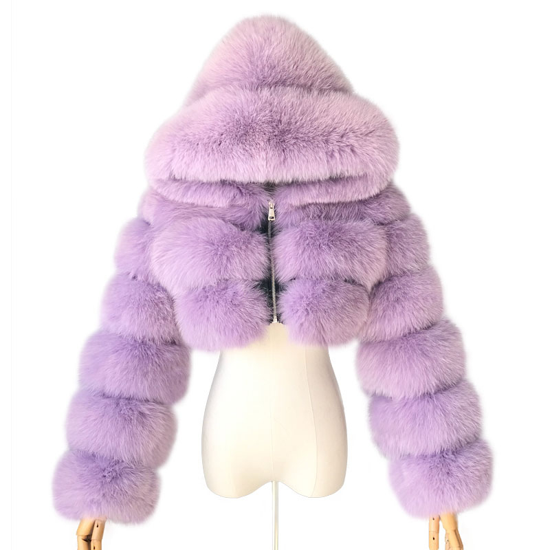2019 Winter Real Fox Fur Women Coats Natural Genuine Female Fox Fur Jacket High Quality Ladies Hooded Fur Coat