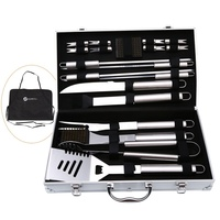 20Pcs Stainless Steel BBQ Tools Set Barbecue Grilling Utensil Accessories Camping Outdoor Cooking Tools Kit