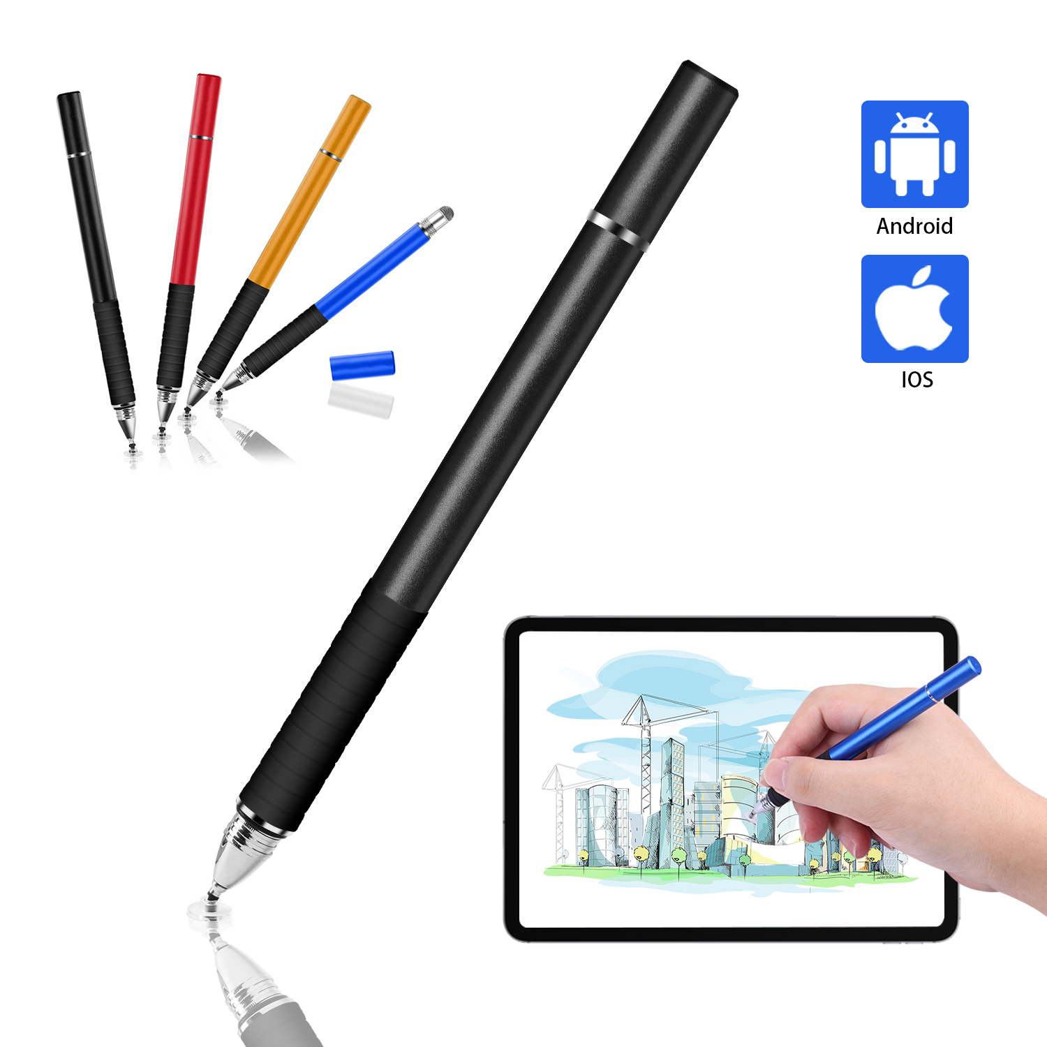 Universal 3 Pcs Touch Screen Pen Phone Tablet Drawing Stylus Pencil for Android