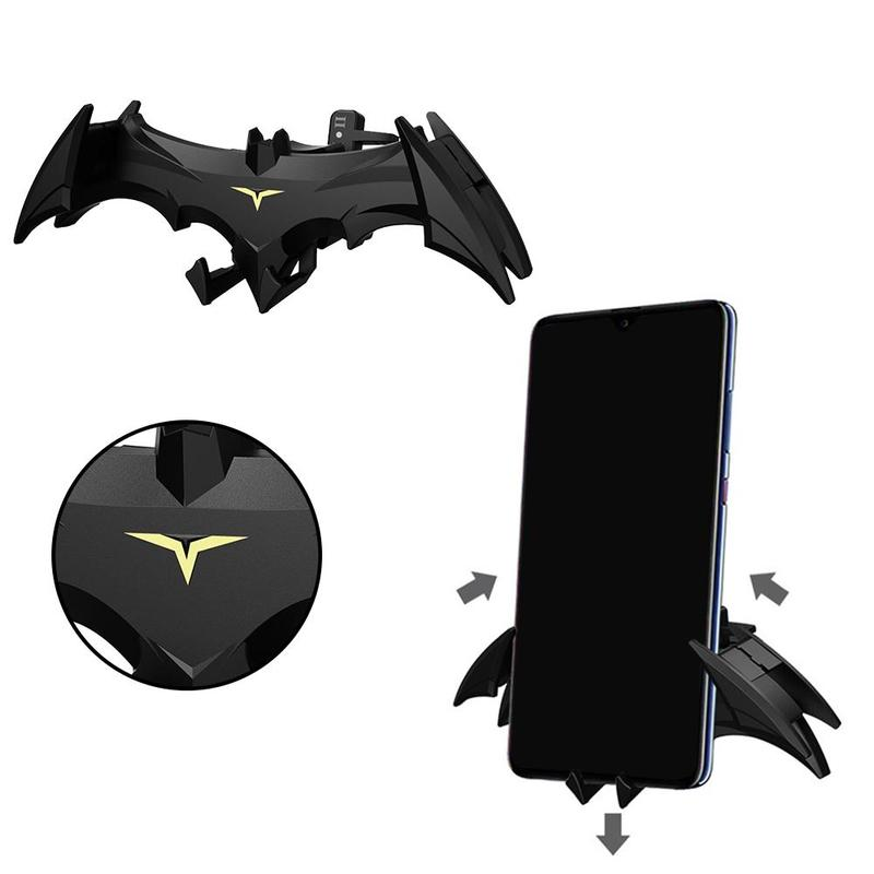 Batman Mobile Phone Bracket Air Vent Mount Car Phone Holder Outlet Gravity Induction Support Universal Cartoon Clip Clamp Stand
