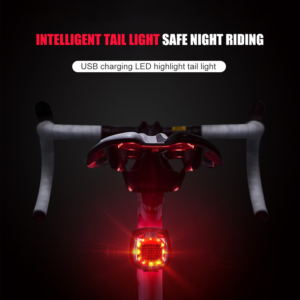 USB Rechargeable Seat Light Bike Cycling Tail Post Lamp LED Bicycle Rear Light for Outdoor Caring Personal Bicycle Supply Light