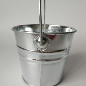 Image 5 - 6 Pz/lotto secchio di Metallo scatola di latta vasi di fiori fioriere Balcone di fiori Vasca grande Secchi