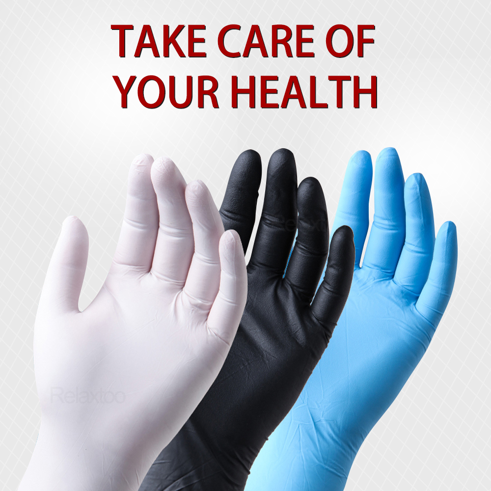 100PCS / 50PCS Disposable Nitrile Gloves Anti Pollution For Safety Work Household Gloves One-use Guantes De Nitrilo Desechables
