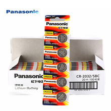 10pcs Panasonic Original cr2032 Button Cell Batteries 3V Coin Lithium Battery For Watch Remote Control Calculator cr2032